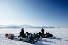 polar expedition Arkivfoto