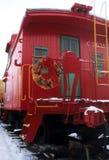 Polar Express. A caboose of an old polar express train Stock Photography