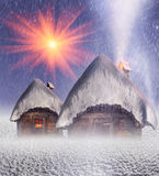 Polar fairy houses Stock Image