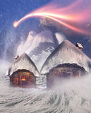 Polar fairy houses Stock Images