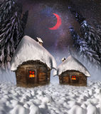 Polar fairy houses Royalty Free Stock Image