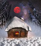 Polar fairy houses Royalty Free Stock Images