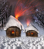 Polar fairy houses Stock Photography