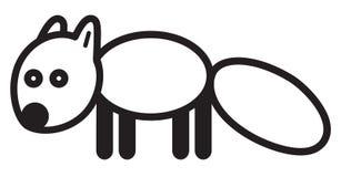 Polar fox - illustration Royalty Free Stock Photo