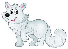 Polar fox theme image 1. Eps10 vector illustration Stock Photography