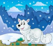 Polar fox theme image 2 Royalty Free Stock Photos