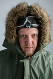 Polar in a green jacket Stock Photo