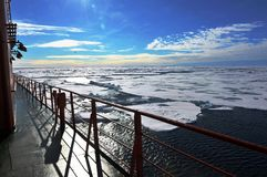 Polar Ice Caps. A view of ice caps near the North Pole from a nuclear ice breaker Stock Photography