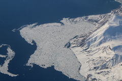 polar issmältning Arkivfoton