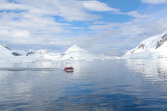 Polar landing boat Stock Photography