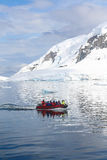 Polar landing boat Stock Images