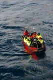 Polar landing boat Royalty Free Stock Image