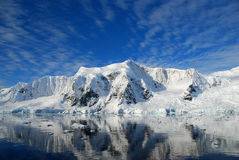 Polar landscape. Landscape and mountains in antarctica Royalty Free Stock Photography
