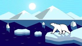Polar landscape panorama Stock Image