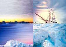 Polar landscapes reflected in water Royalty Free Stock Image