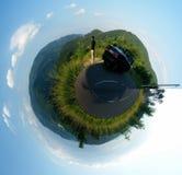 polar liggandepanorama Fotografering för Bildbyråer
