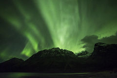 Polar lights (aurora borealis) Royalty Free Stock Images