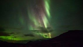 Polar lights (aurora borealis) stock video footage