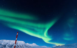 Polar Northern lights in Norway Royalty Free Stock Images