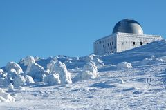 Polar Observatory. Observatory on an icy summit Royalty Free Stock Images
