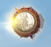 Polar Panorama of Moscow Royalty Free Stock Images