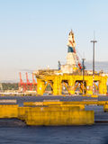 Polar Pioneer Oil Drilling Rig Docked At T-5 Stock Photos