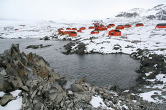 Polar research station and col Royalty Free Stock Photos