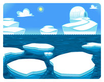 Polar scene. Stock Photography