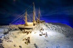 Polar Ship Fram. Model of polar ship Fram in Fram Museum , Oslo, Norway royalty free stock image