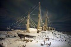 Polar ship Fram. Scale model of polar ship Fram exposed in Fram Museum , Oslo, Norway stock photography