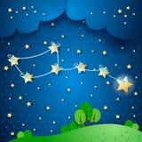 Polar star, fantasy illustration Royalty Free Stock Photos
