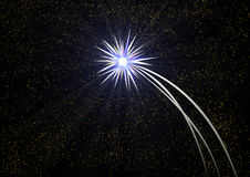 Polar star in infinite space. Contemporary digital art. Polar star in the infinite space Royalty Free Stock Photos