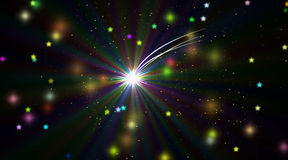 Polar star in infinite space. Contemporary digital art. Polar star in the infinite space Stock Image