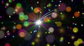 Polar star in infinite space. Contemporary digital art. Polar star in the infinite space Royalty Free Stock Photography