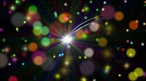 Polar star in infinite space. Contemporary digital art. Polar star in the infinite space Royalty Free Illustration