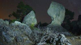 Polar star night timelapse stock footage