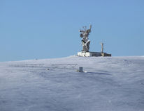Polar station. Weather station stands on the snow plain Stock Photography