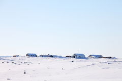 Polar station i arktisk Royaltyfri Fotografi