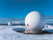 Polar Station in Svalbard stock photo