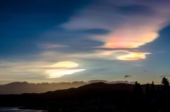 Polar stratospheric clouds royalty free stock images