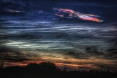 Polar stratospheric clouds winter landscape outdoors Stock Image