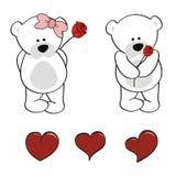 Polar teddy bear Baby cute animals cartoon sticker set Royalty Free Stock Image