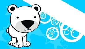 Polar teddy bear baby cute cartoon background Stock Photos