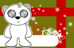 Polar teddy bear cartoon xmas background7 Stock Photography