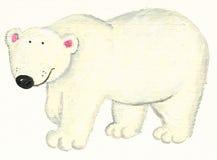 polar white för björn Arkivfoto