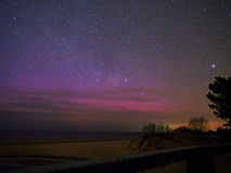 Polara ljus och stjärnor Arkivfoto
