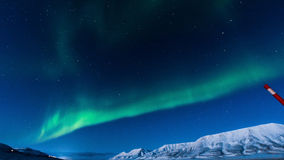 Polara nordliga ljus i Norge Arkivfoton