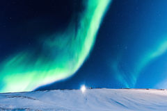 Polara nordliga ljus i Norge Royaltyfri Fotografi