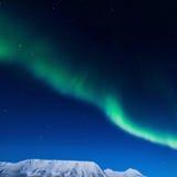 Polara nordliga ljus i Norge Arkivbild