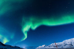 Polara nordliga ljus i Norge Royaltyfri Foto